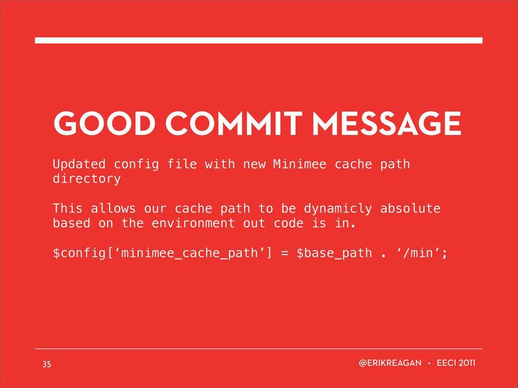ERIKREAGAN • EECI GOOD COMMIT MESSAGE Updated c...