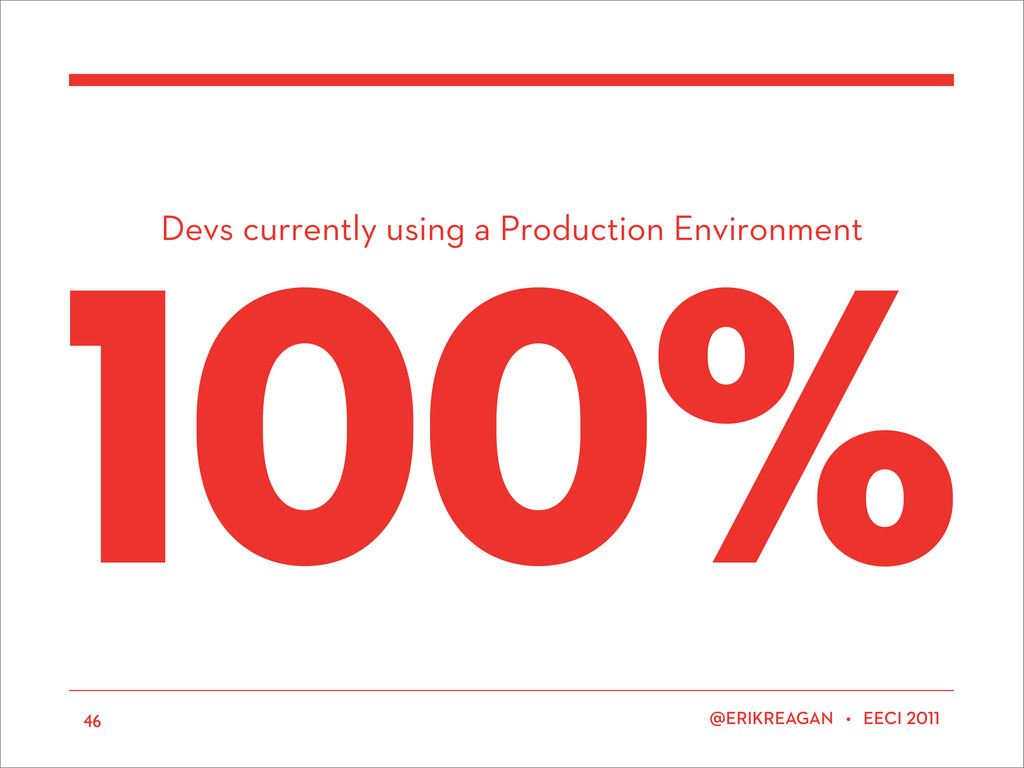 Devs currently using a Production Environment E...