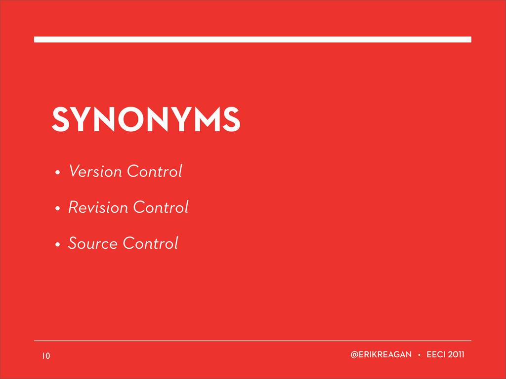 ERIKREAGAN • EECI SYNONYMS • Version Control • ...
