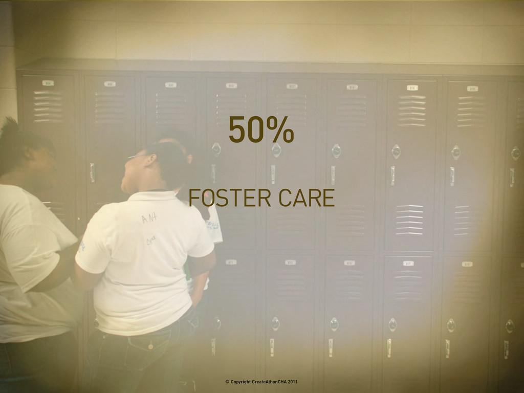 FOSTER CARE 50% © Copyright CreateAthonCHA 2011