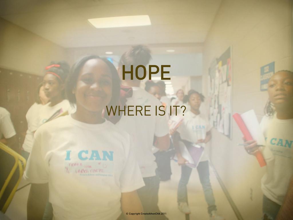 WHERE IS IT? HOPE © Copyright CreateAthonCHA 20...