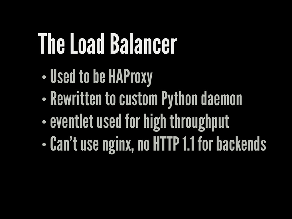 The Load Balancer Used to be HAProxy Rewritten ...