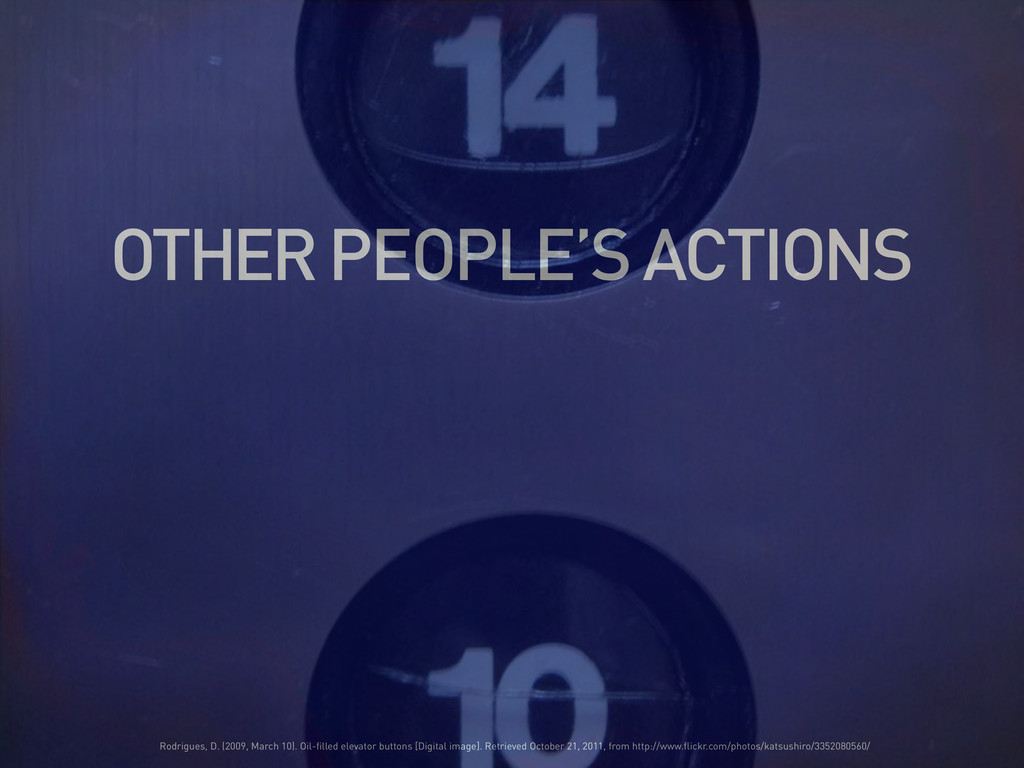 OTHER PEOPLE'S ACTIONS Rodrigues, D. (2009, Mar...