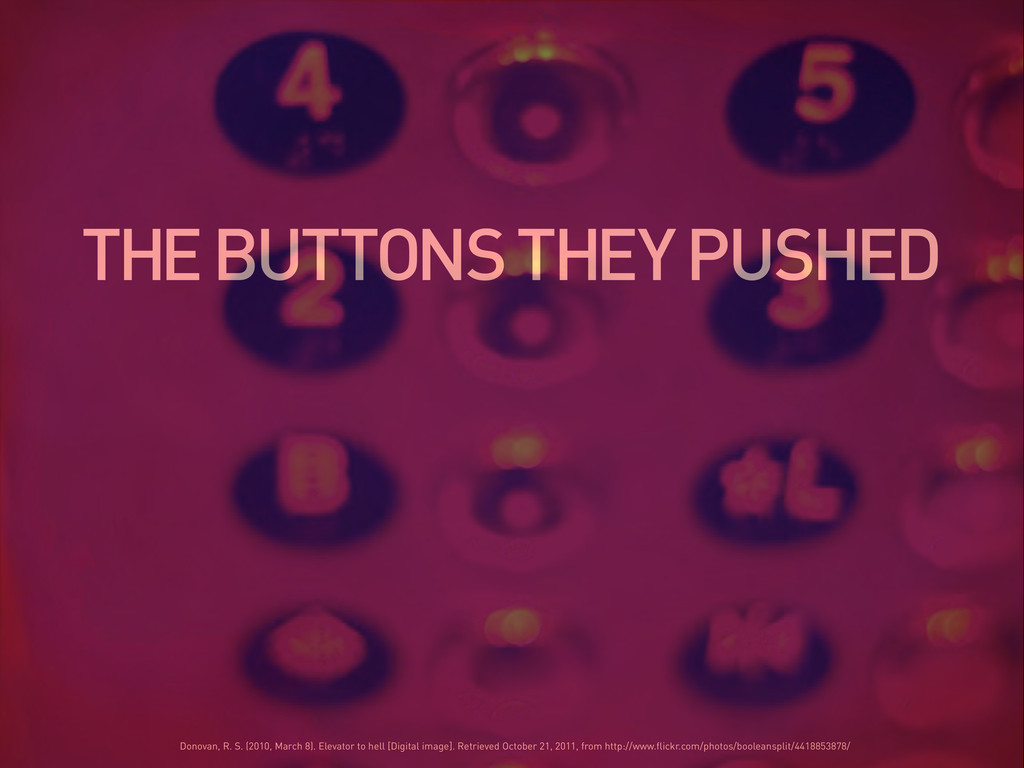 THE BUTTONS THEY PUSHED Donovan, R. S. (2010, M...