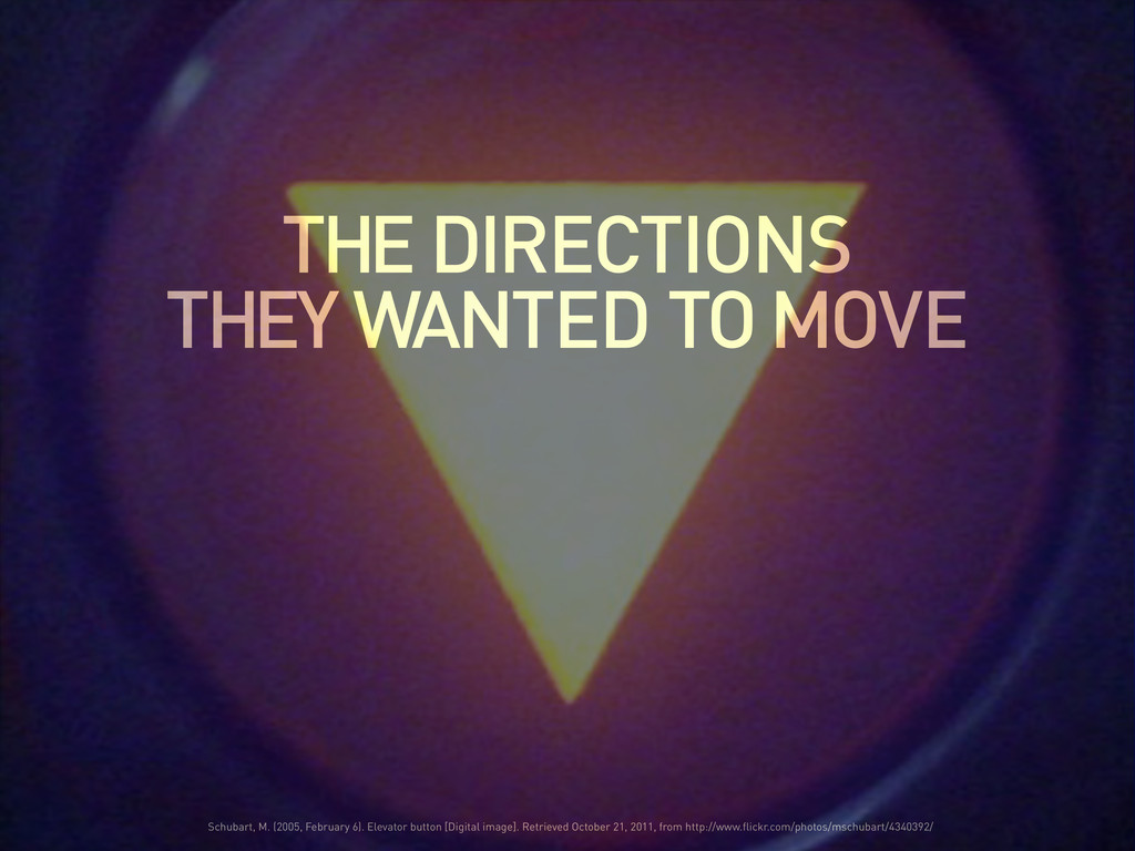 THE DIRECTIONS THEY WANTED TO MOVE Schubart, M....