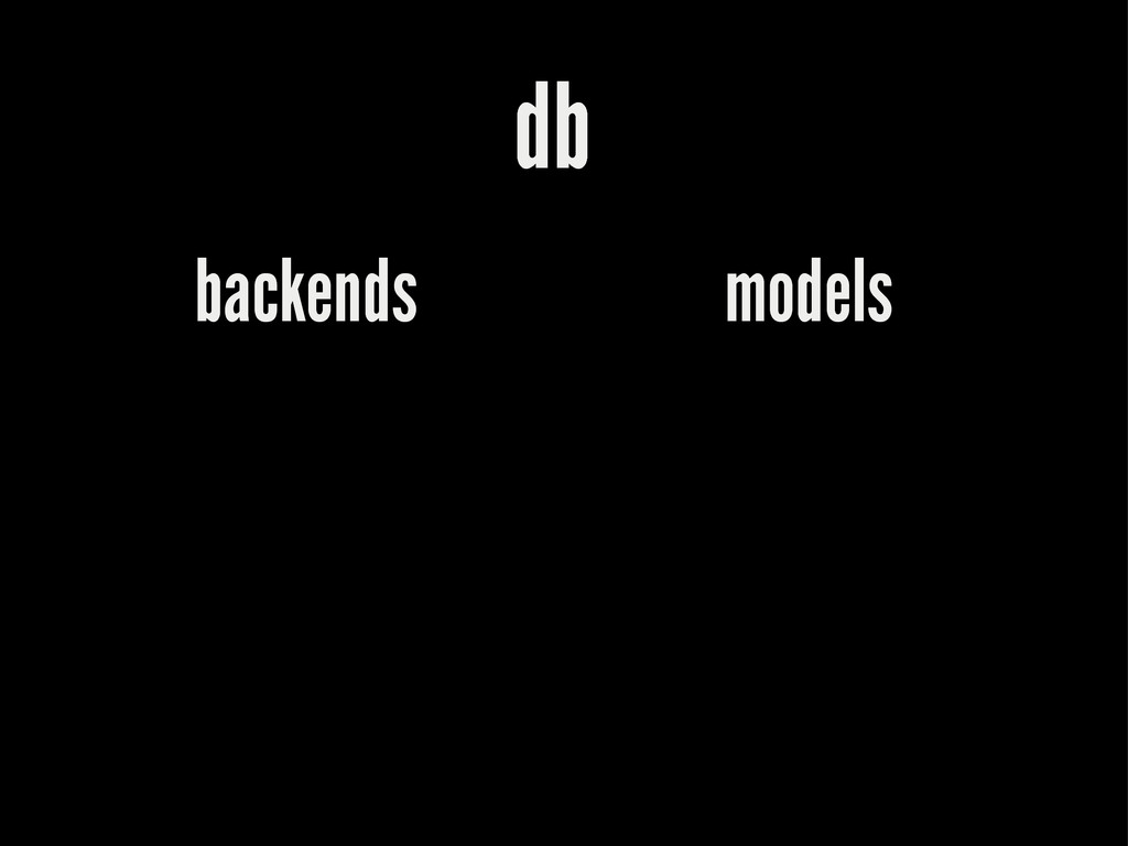 db backends models