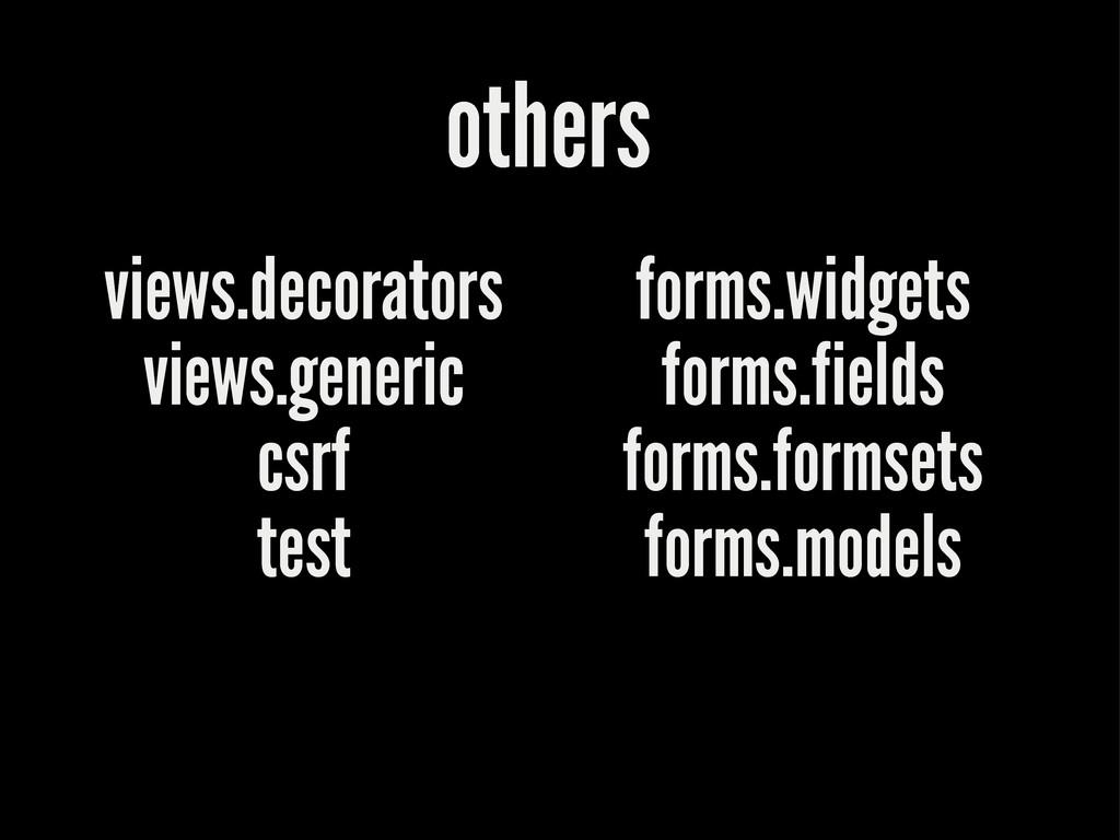 others views.decorators views.generic csrf test...