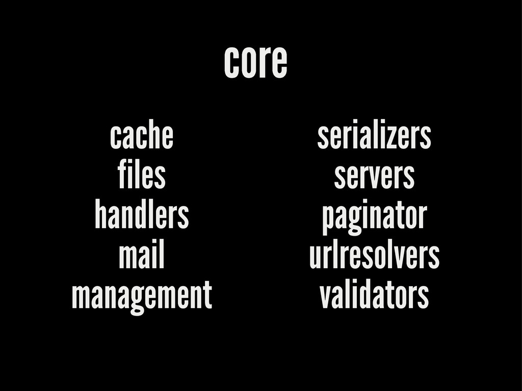 core cache files handlers mail management seria...