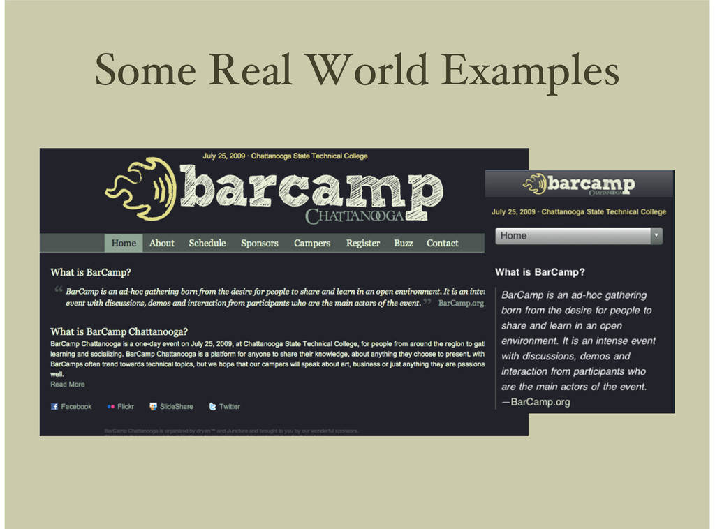 Some Real World Examples