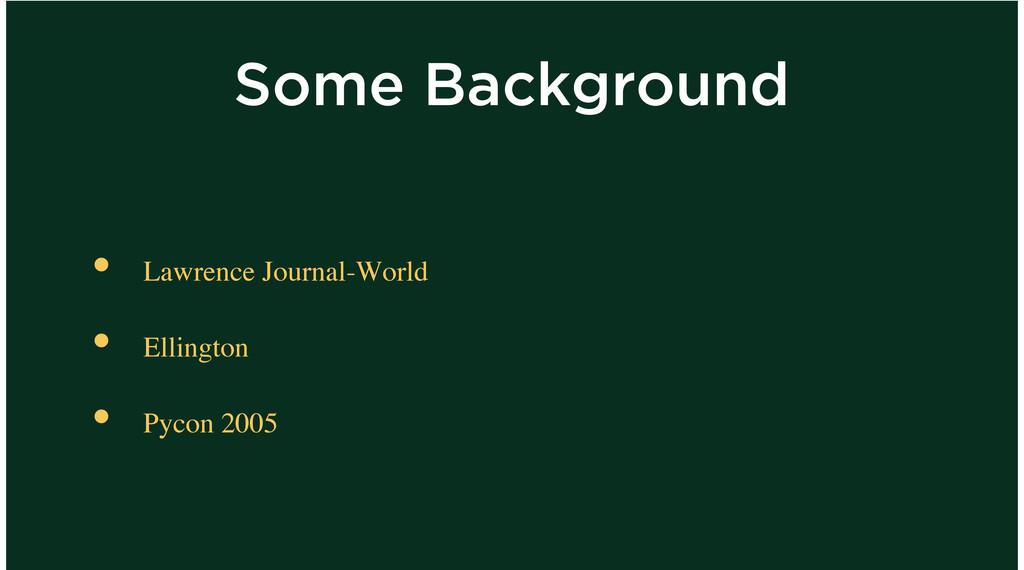 Some Background Lawrence Journal-World Ellingto...
