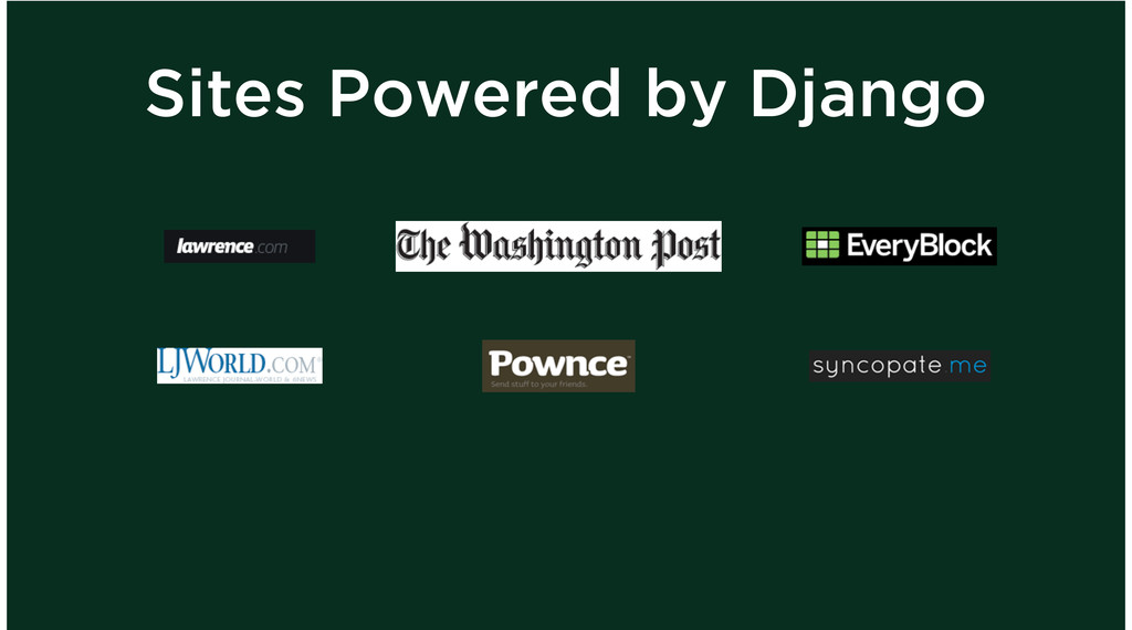 Sites Powered by Django