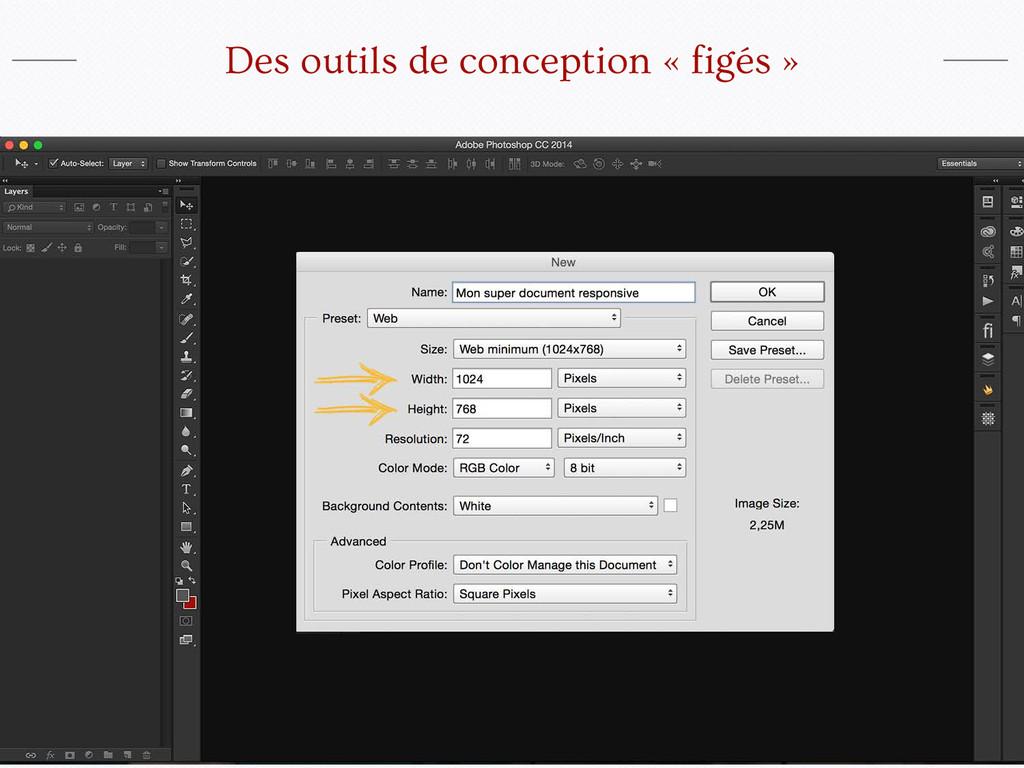 Des outils de conception « figés »