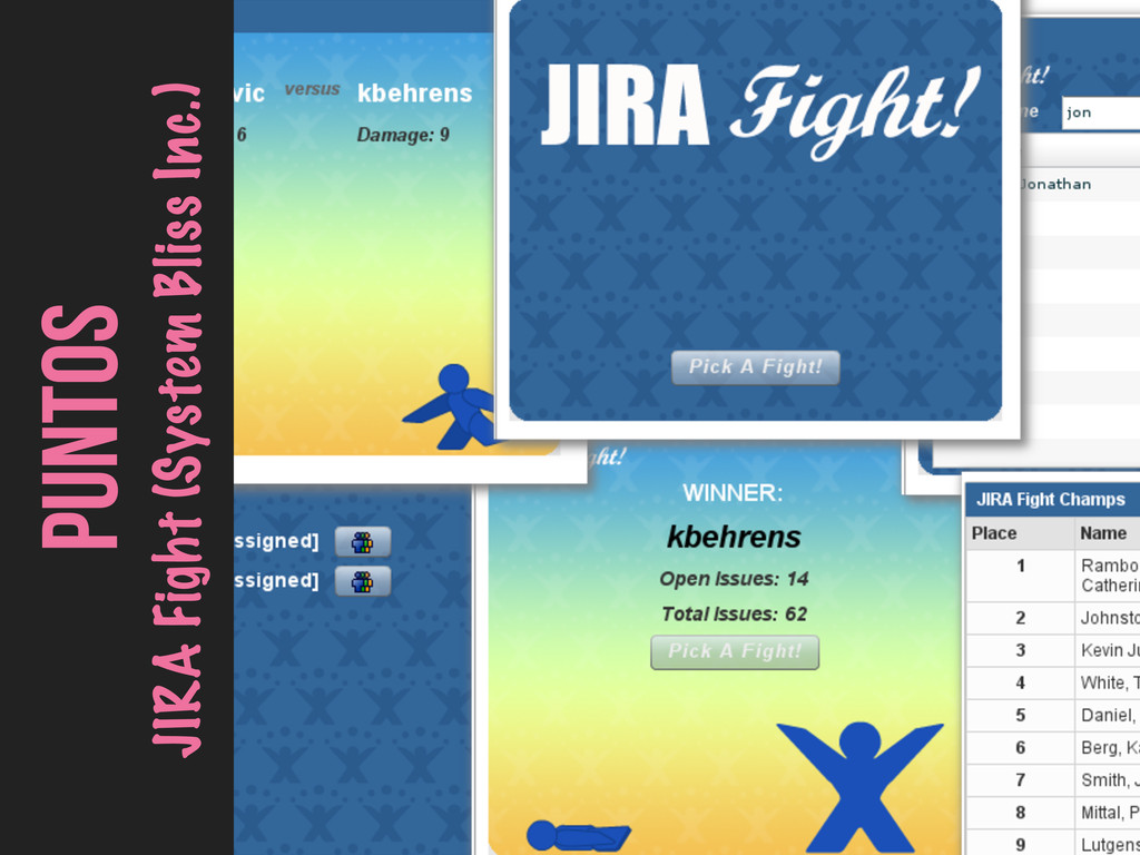 PUNTOS JIRA Fight (System Bliss Inc.)