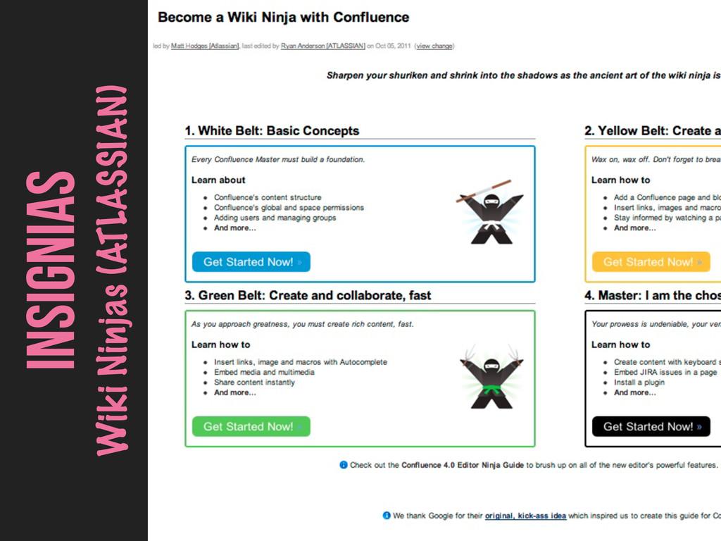 INSIGNIAS Wiki Ninjas (ATLASSIAN)