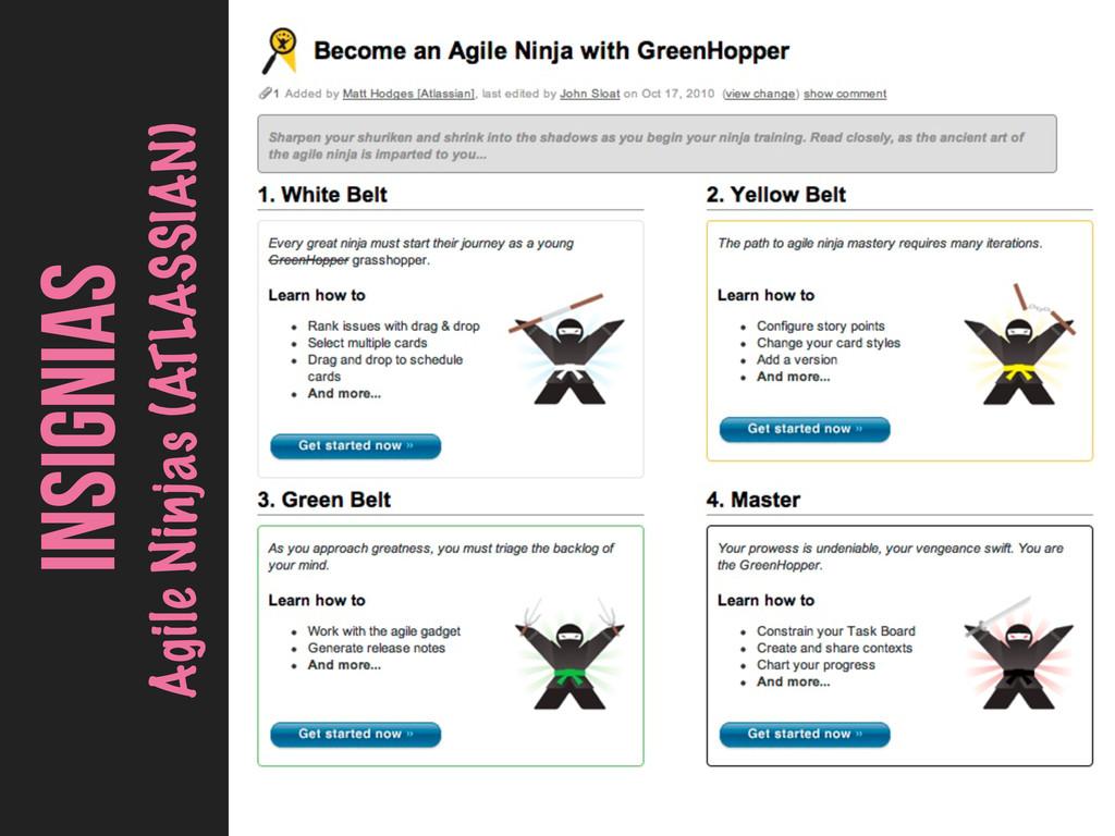 INSIGNIAS Agile Ninjas (ATLASSIAN)