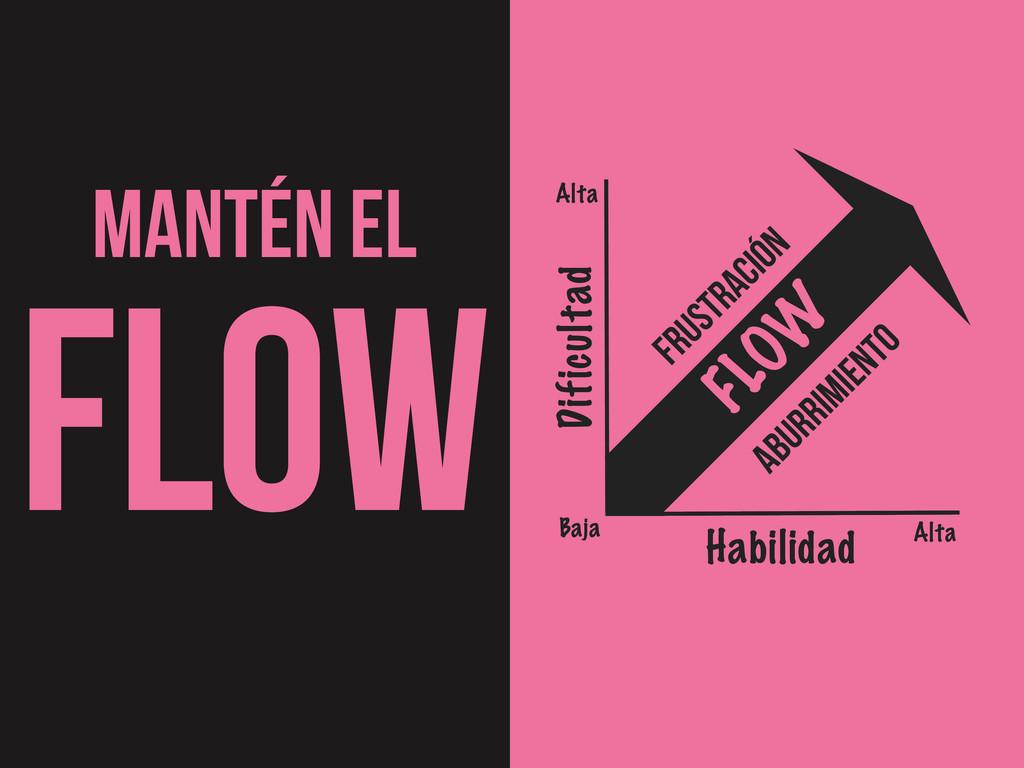 MANTÉN EL FLOW Habilidad Dificultad Baja Alta A...