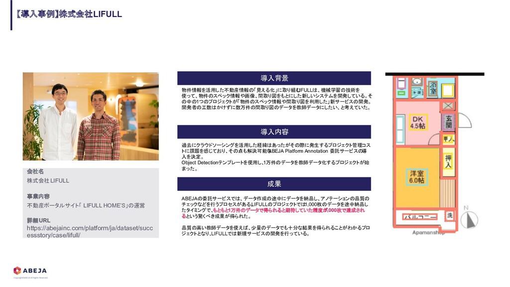 【導入事例】株式会社LIFULL 導入内容 導入背景 成果 会社名 株式会社LIFULL 事業...