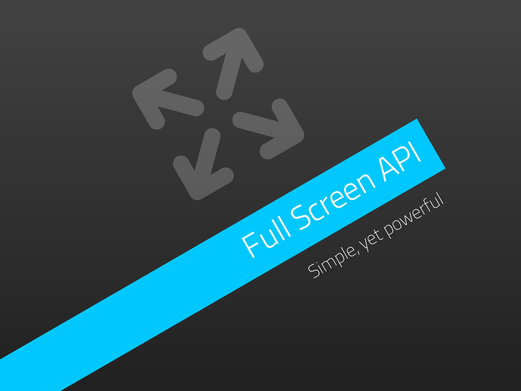 Full Screen API Simple, yet powerful