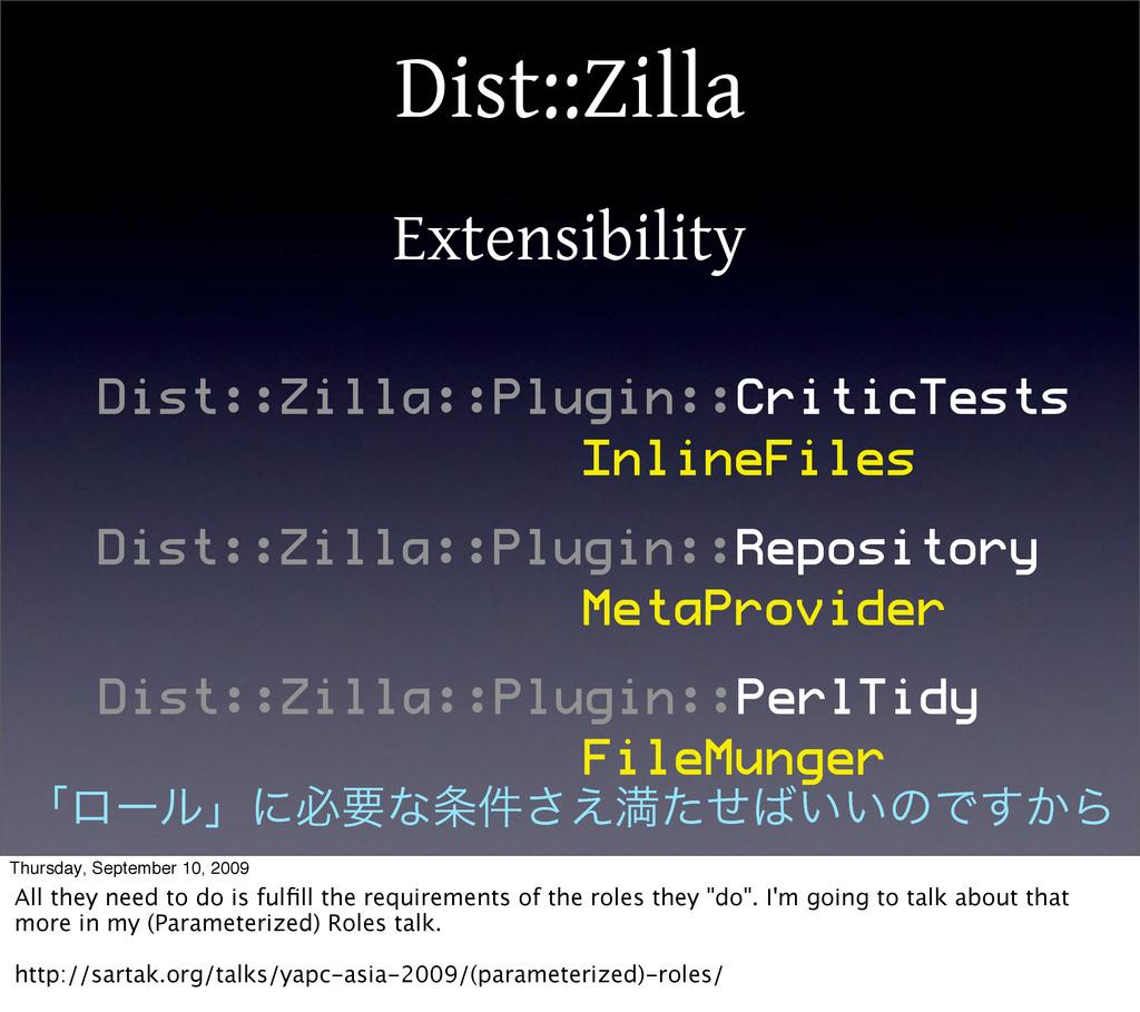 Dist::Zilla Extensibility Dist::Zilla::Plugin::...