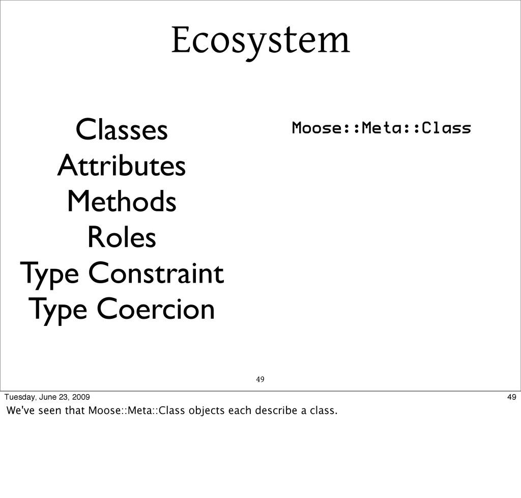 Ecosystem 49 Classes Attributes Methods Roles T...