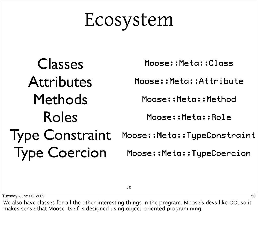 Ecosystem 50 Classes Attributes Methods Roles T...