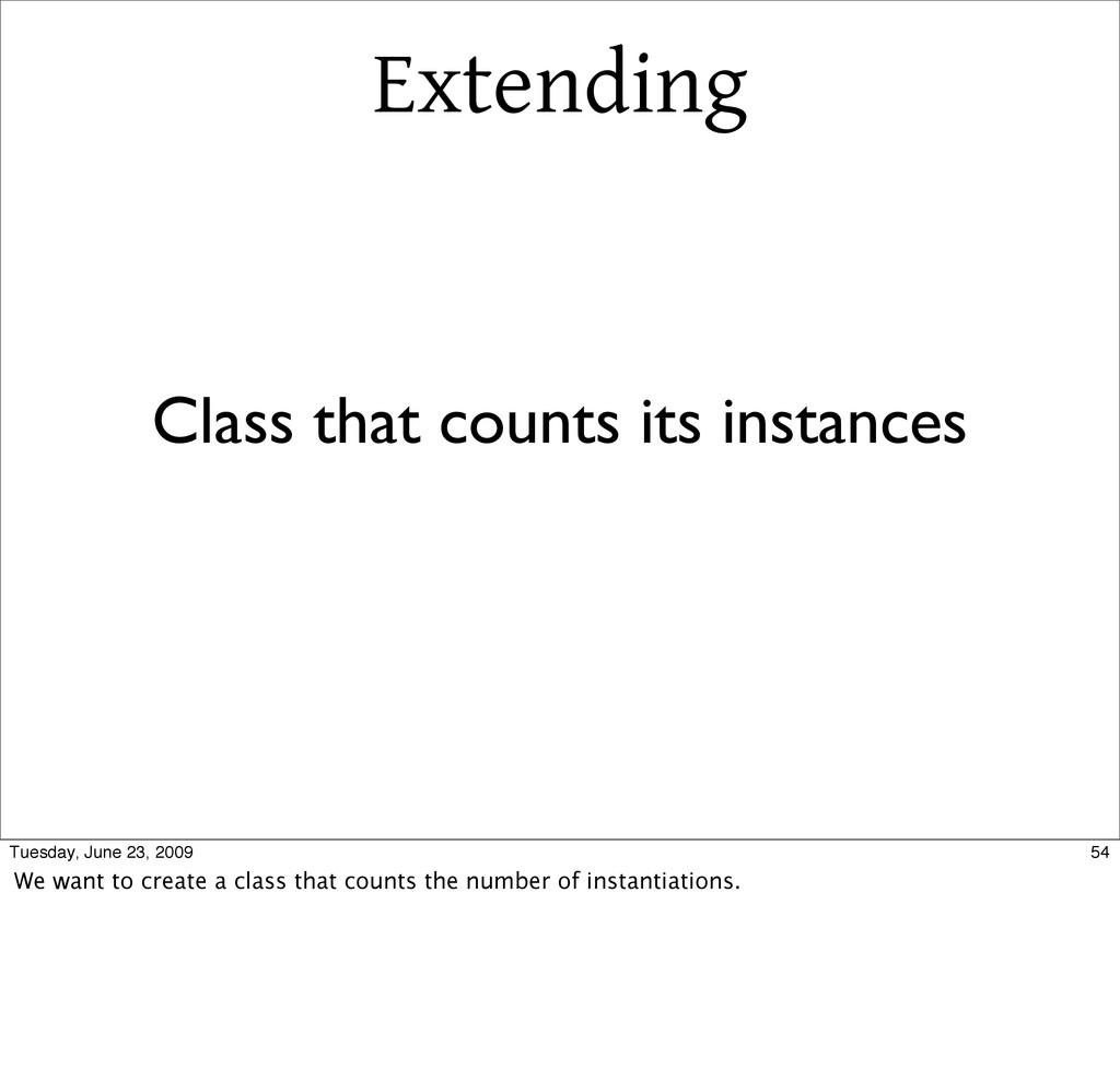 Extending Class that counts its instances 54 Tu...