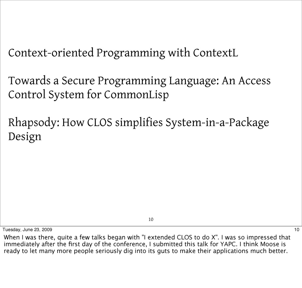 10 Context-oriented Programming with ContextL T...