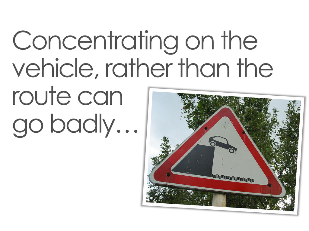 Concentrating on the vehicle, rather than the r...