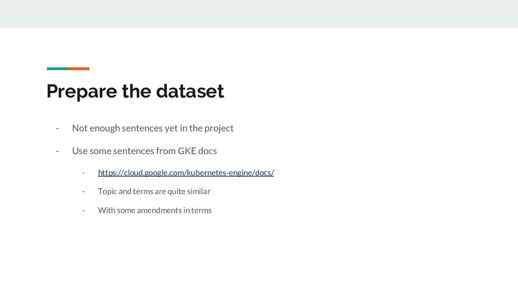 Prepare the dataset - Not enough sentences yet ...