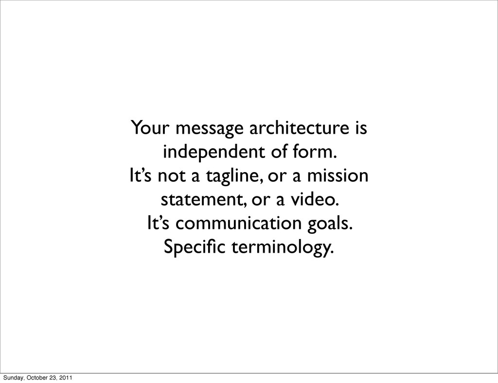 Your message architecture is independent of for...
