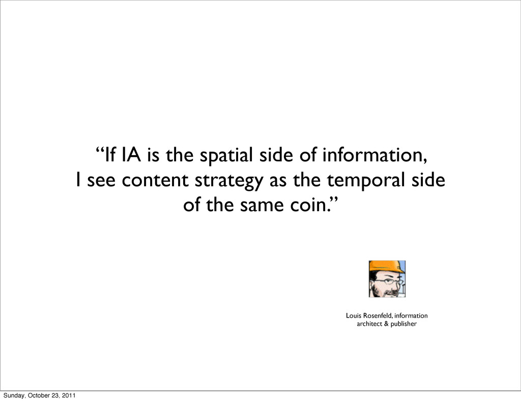 """If IA is the spatial side of information, I se..."