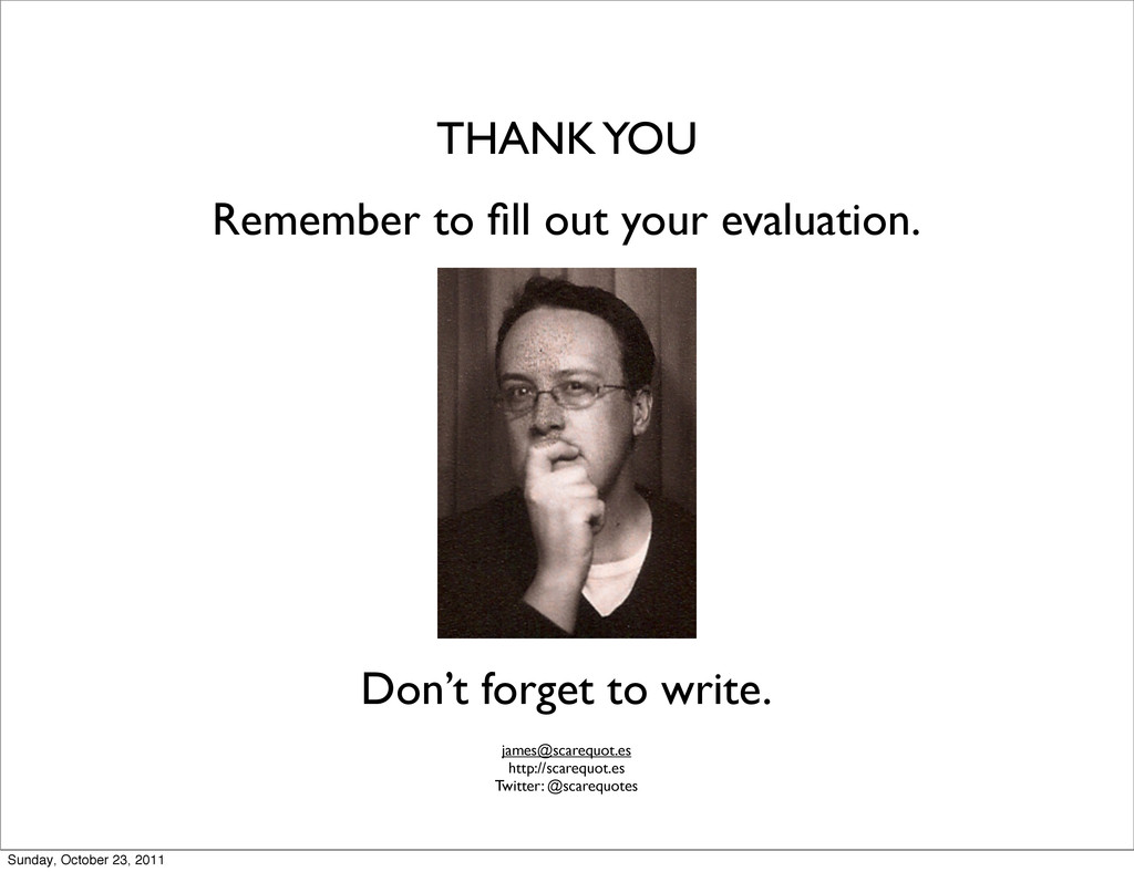 THANK YOU Remember to fill out your evaluation. ...