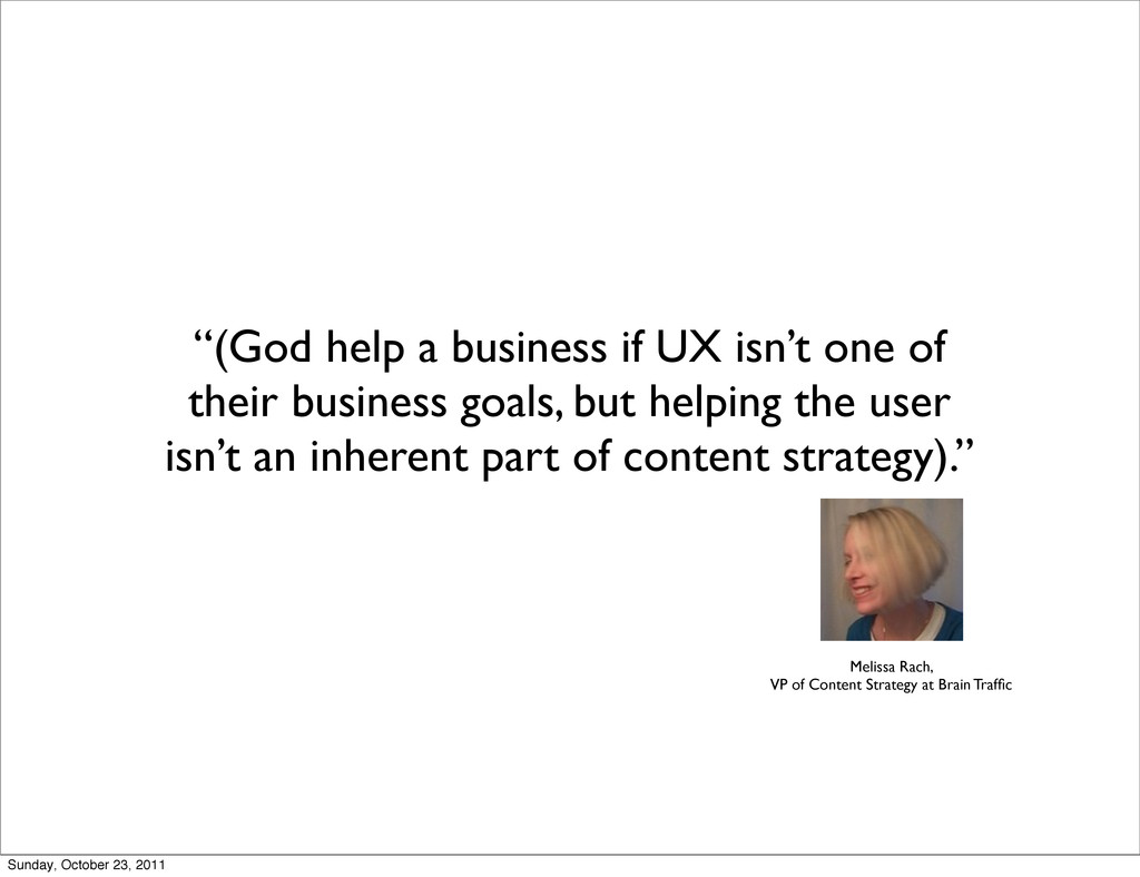"""(God help a business if UX isn't one of their ..."
