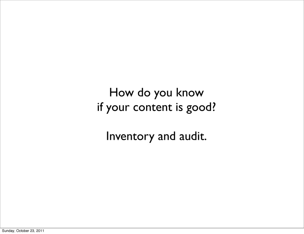 How do you know if your content is good? Invent...