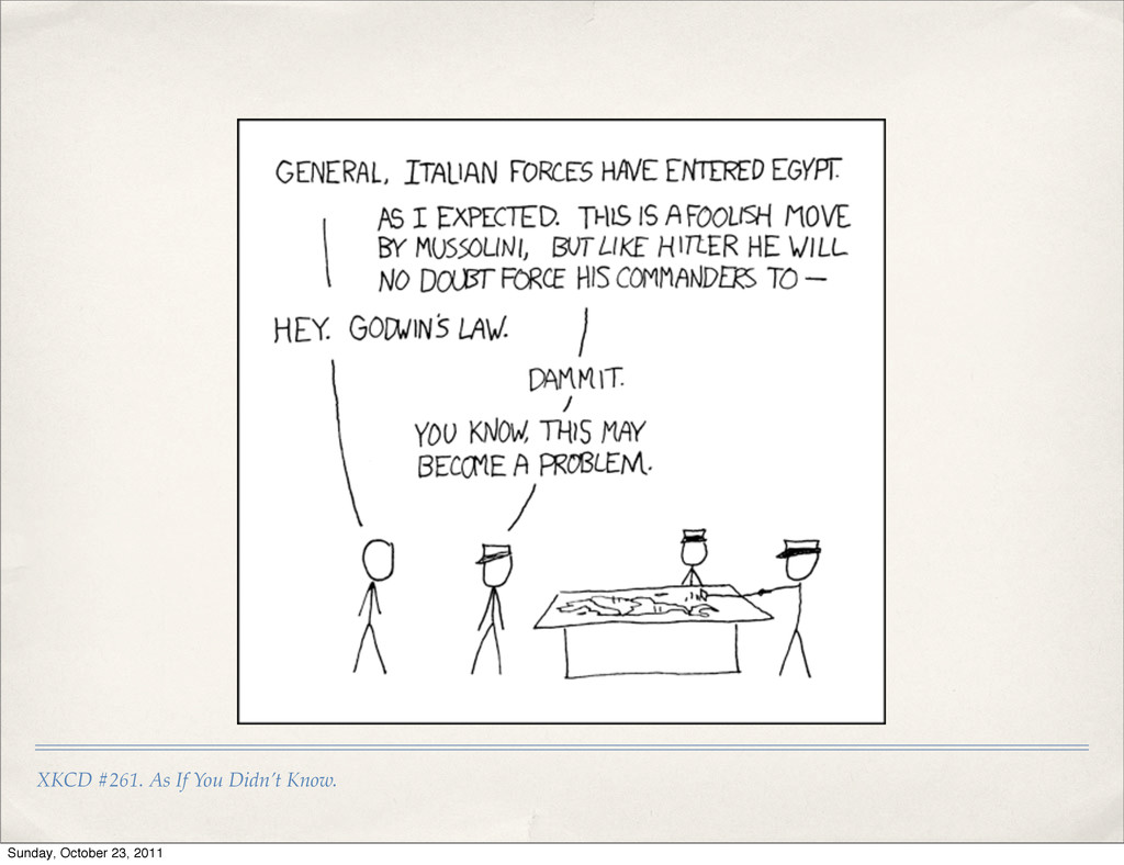 XKCD #261. As If You Didn't Know. Sunday, Octob...