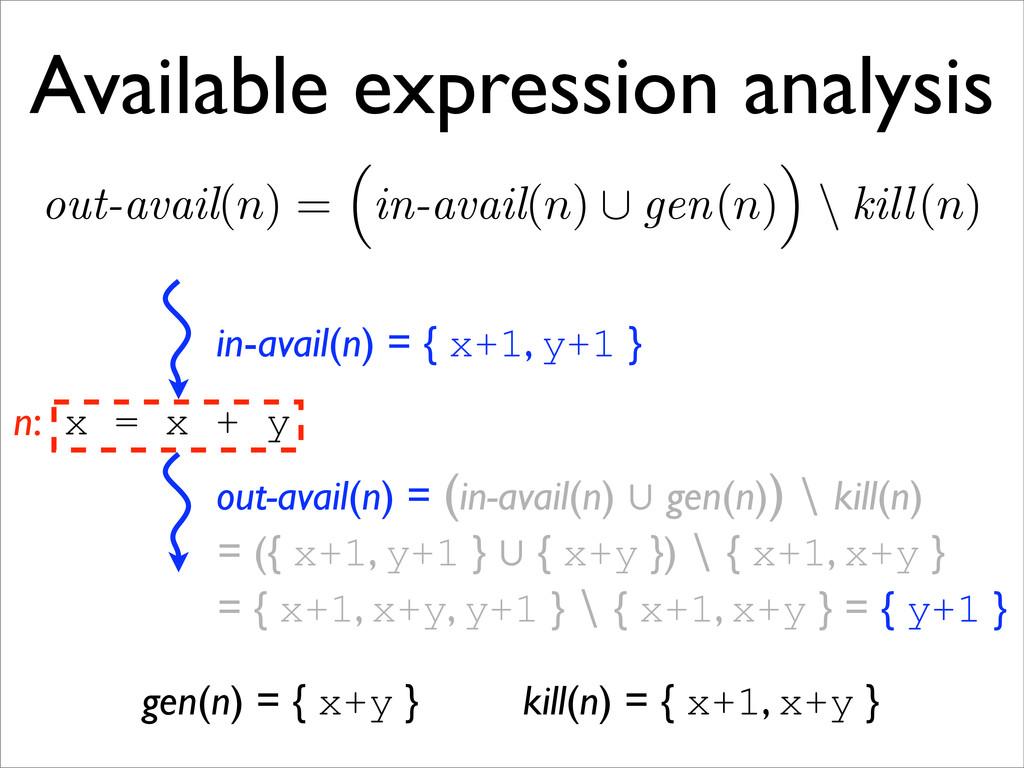 = ({ x+1, y+1 } 㱮 { x+y }) ∖ { x+1, x+y } = { y...