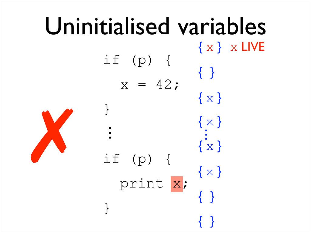 { } 㱮 { x } { x } { x } { x } 㱮 { } Uninitialis...