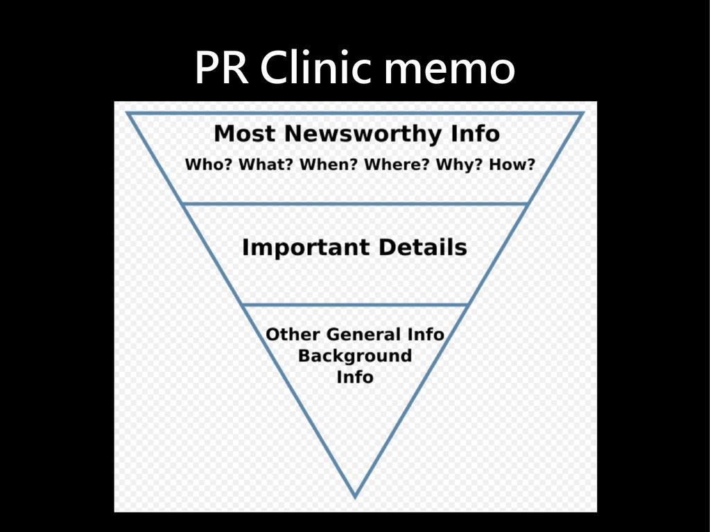 PR Clinic memo