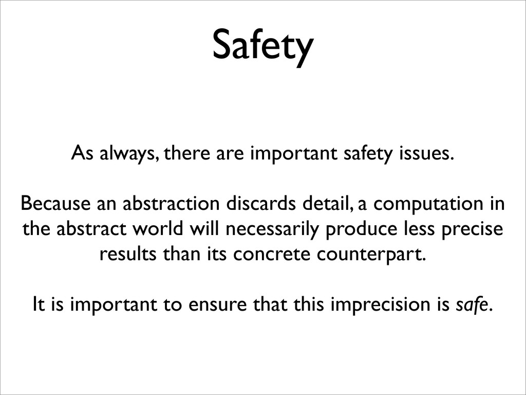 Safety As always, there are important safety is...