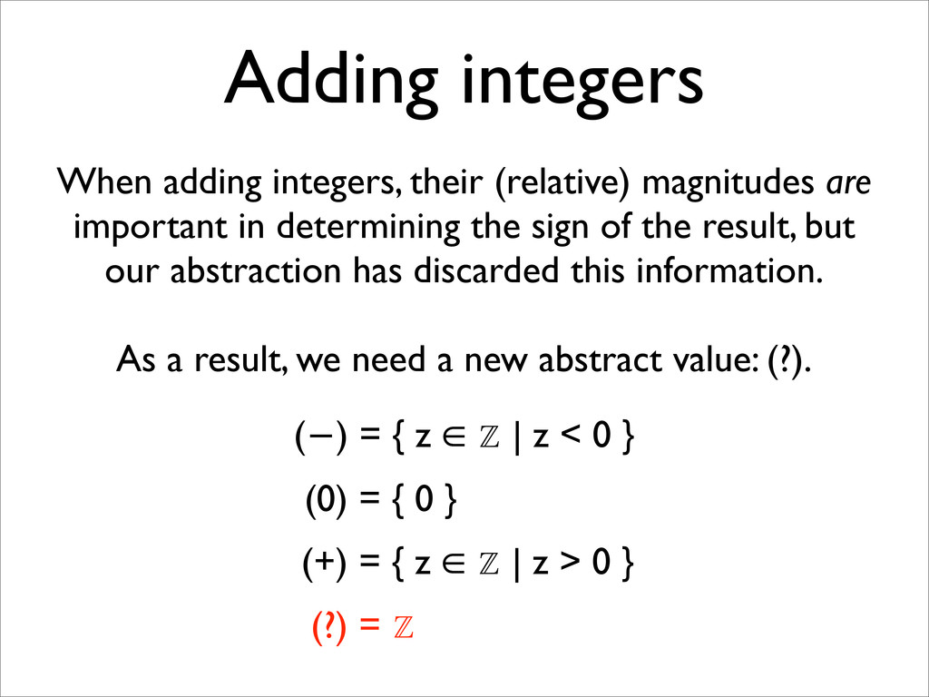 Adding integers When adding integers, their (re...