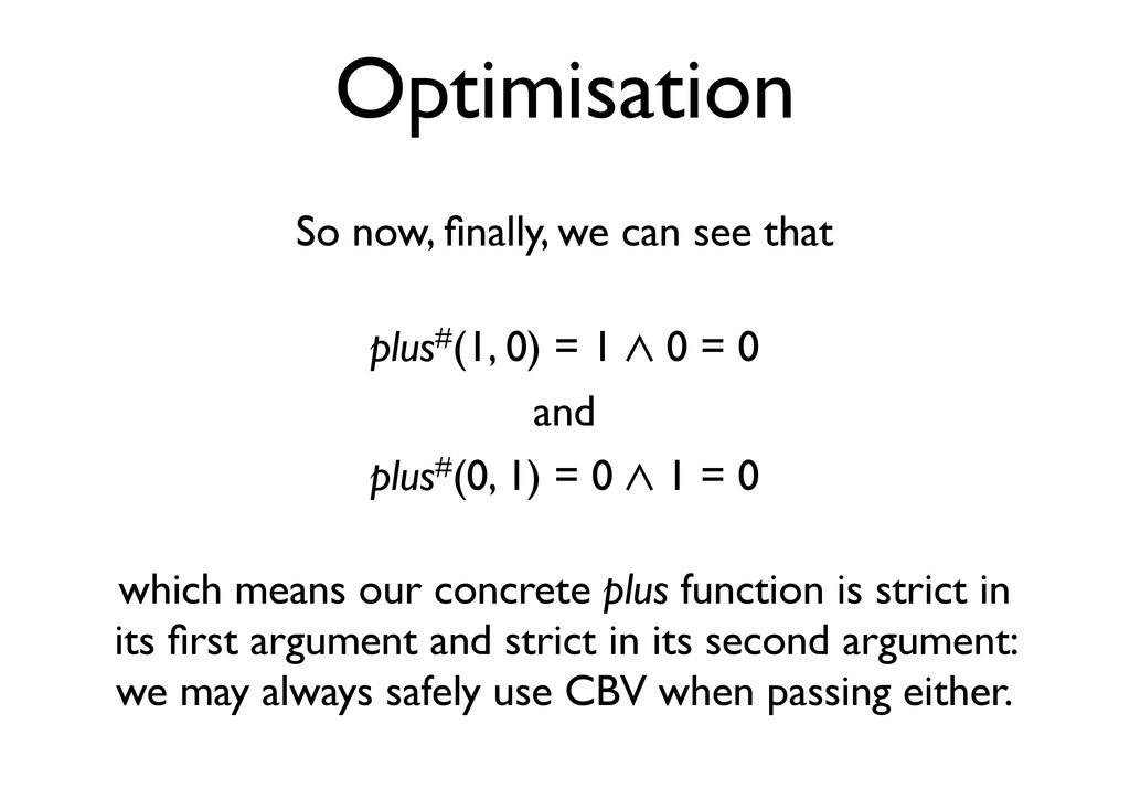 Optimisation So now, finally, we can see that pl...