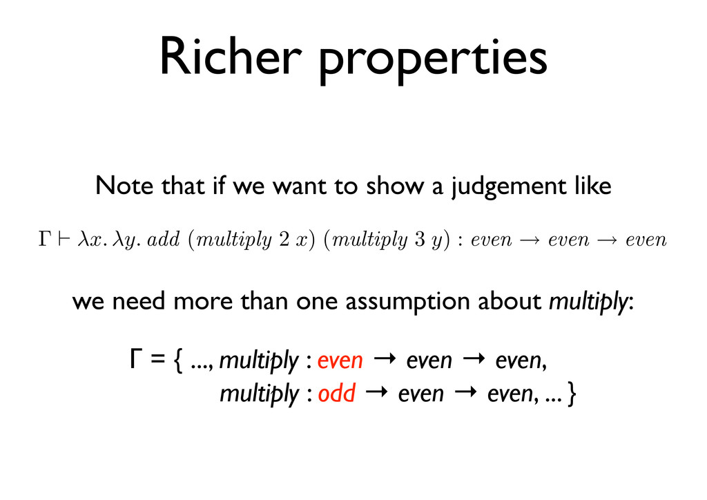 Richer properties Note that if we want to show ...
