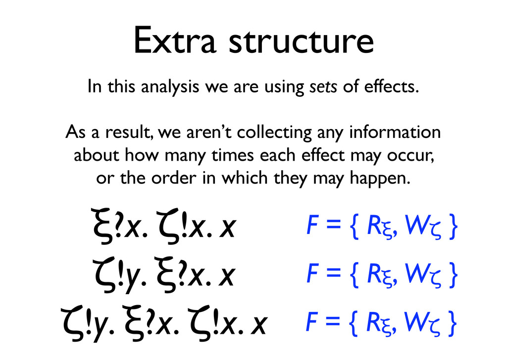 Extra structure In this analysis we are using s...