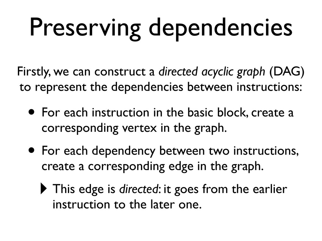 Preserving dependencies Firstly, we can constru...