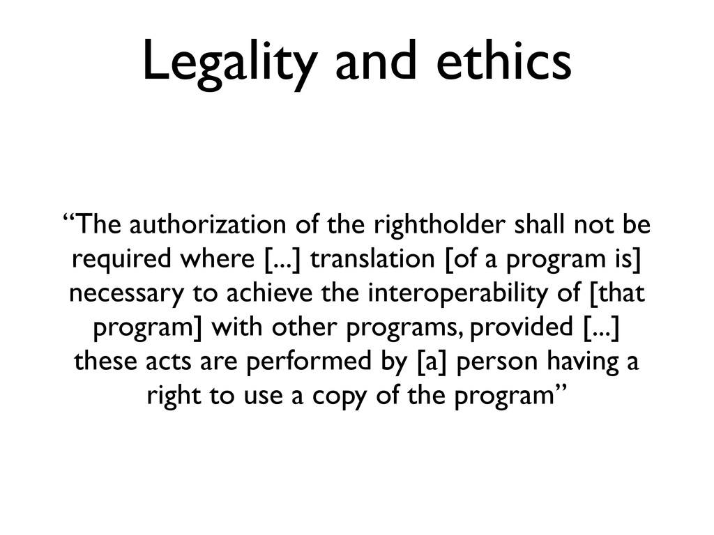 """Legality and ethics """"The authorization of the r..."""