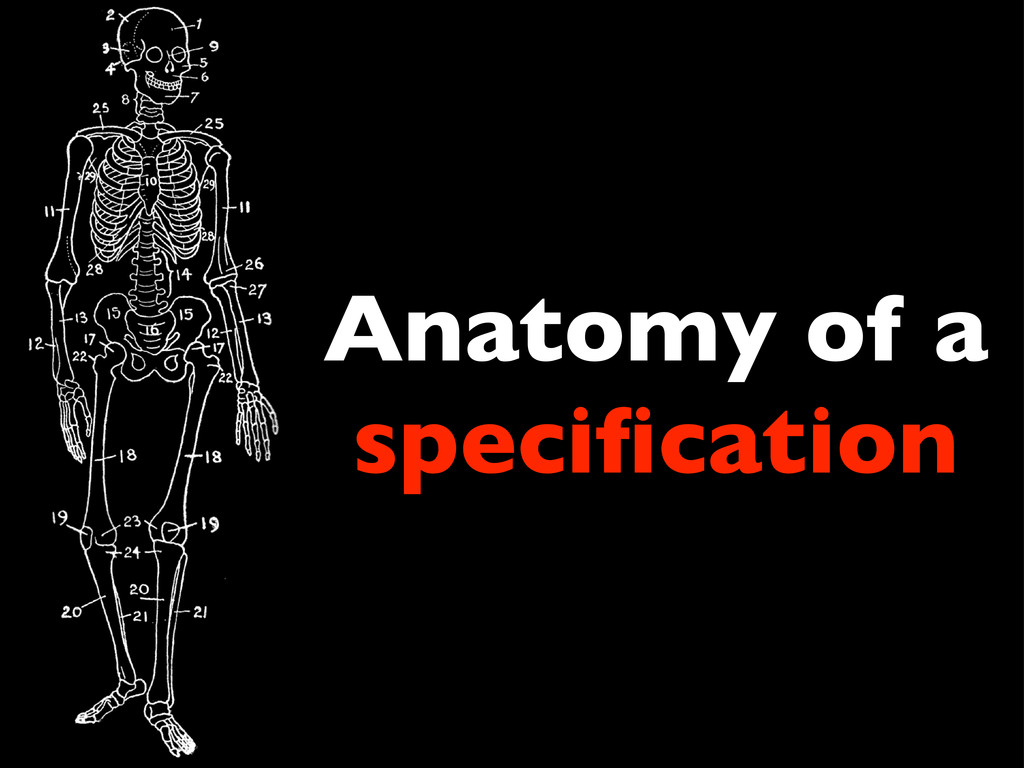 Anatomy of a specification