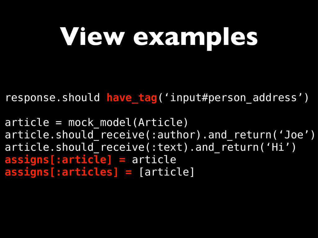 View examples response.should have_tag('input#p...