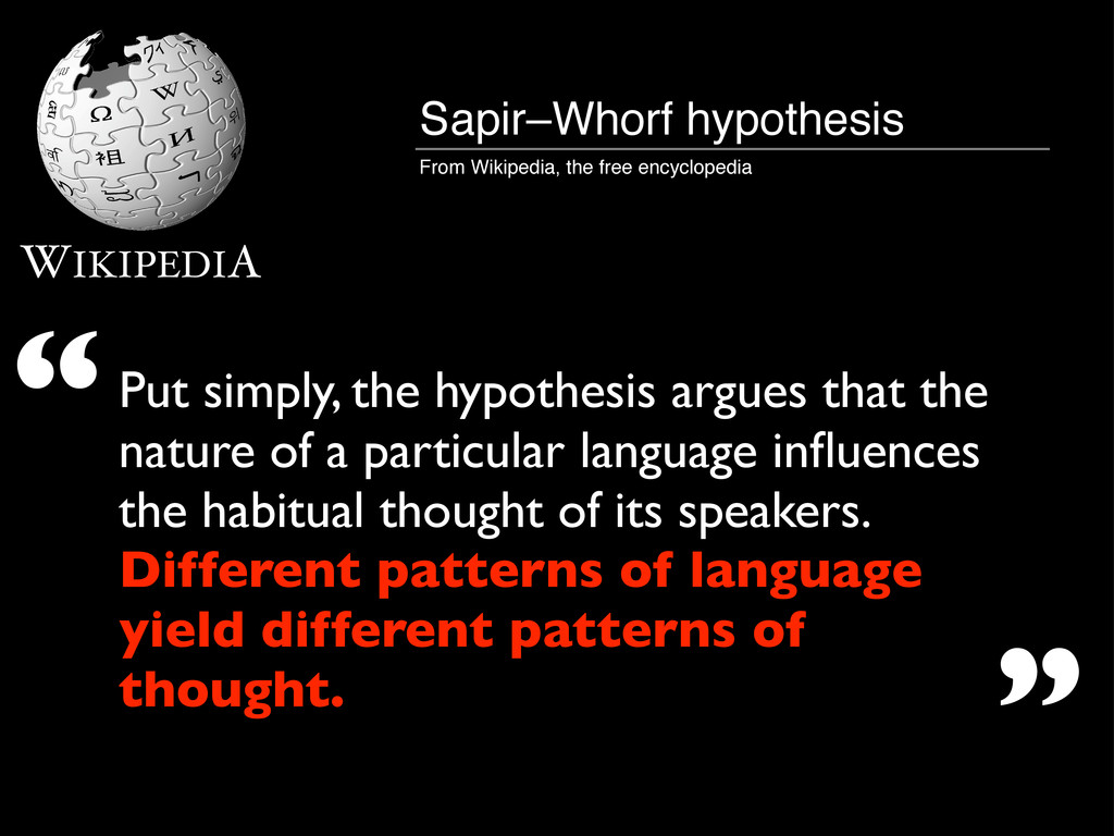 WIKIPEDIA Put simply, the hypothesis argues tha...