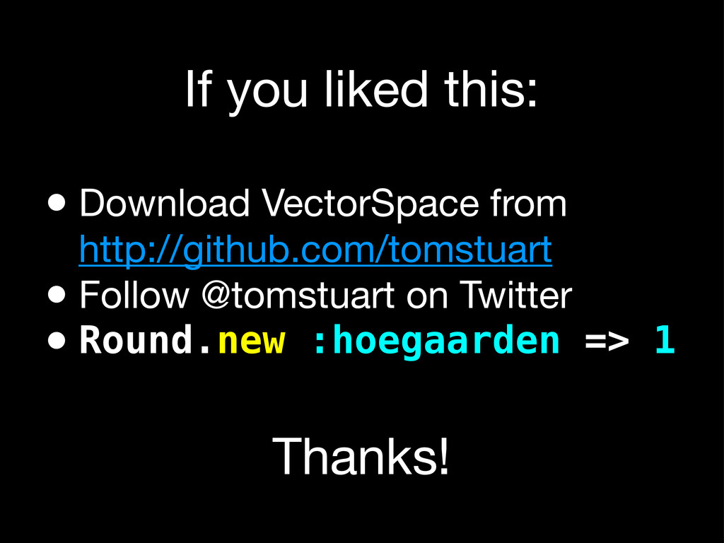 If you liked this: • Download VectorSpace from ...