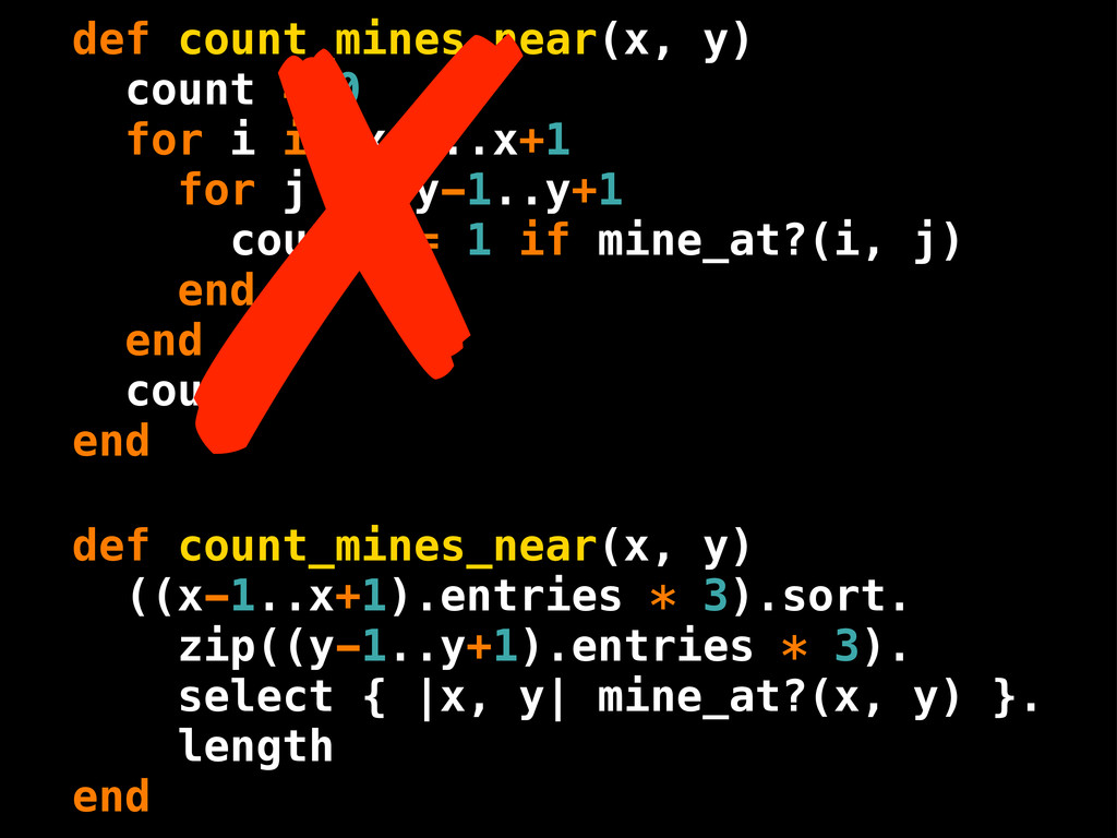 def count_mines_near(x, y) count = 0 for i in x...